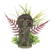 Exotic Environments Buddha Warrior With Plants Small Statue