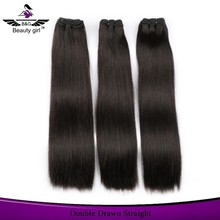 Human hair stock market wholesale natural human hair extentions Beauty Girl brand name 100% real remy hair weave