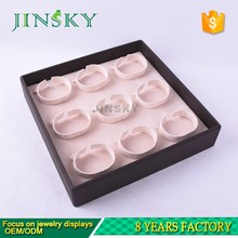 pu leather bracelet counter display tray