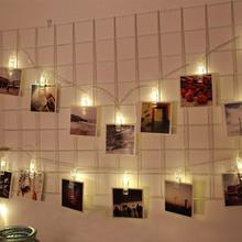 1.5M 10Led Warm White Custom Decorative Led Photo Wall Hanging Clips Fairy String Lights For Wedding Party