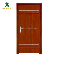interior latest design wooden rounded MDF PVC door for living room