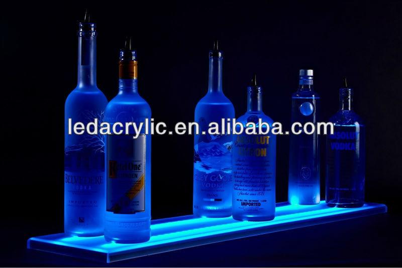 24 led lumineux bar tag res tenir jusqu 39 6 bouteille d 39 alcool bouteille affichage tag res. Black Bedroom Furniture Sets. Home Design Ideas