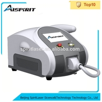 Hot selling! Spiritlaser beauty salon equipment 1064nm 532nm q switch nd yag laser tattoo removal machine