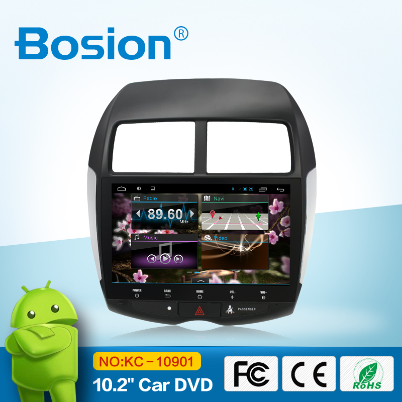 touch screen android 4.4.4 car navigation stereo for Mitsubishi ASX /bluetooth radio usb sd aux in wifi 3g phone connect