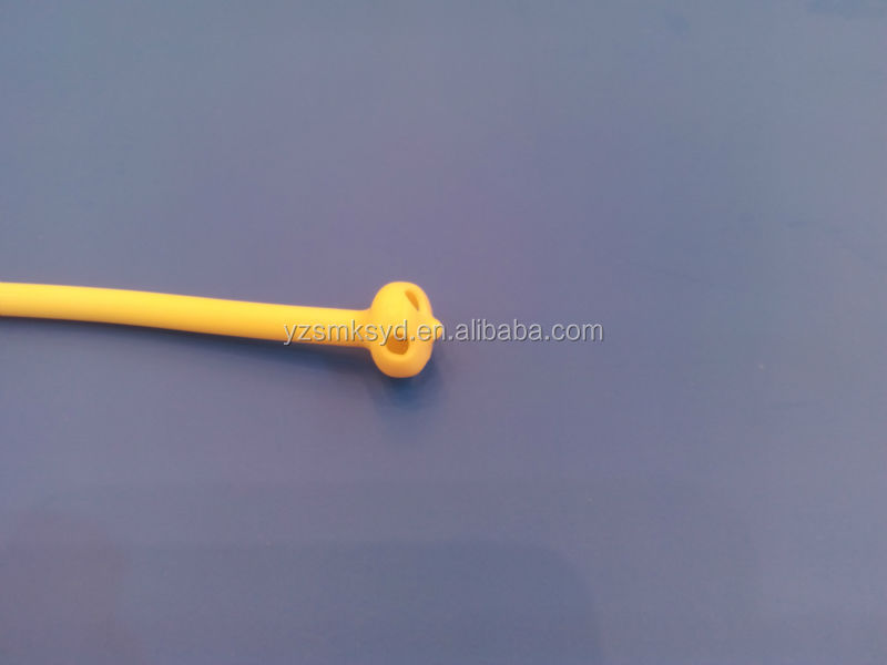 medical disposable Latex Foley catheter with hard valve coated with medical glass silicone