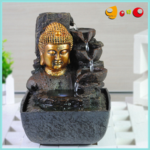 Fengshui mini Buddha head water fountain for home decoration