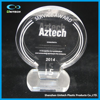 creative design plastic OEM clear acrylic trophy and awards