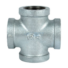 Galvanized Steel Pipe Fitting Cross