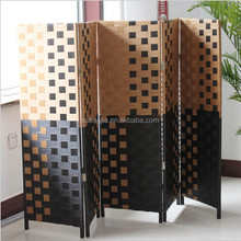 Portable Wood Room Divider 6 Panel Paper Restaurant Partitions