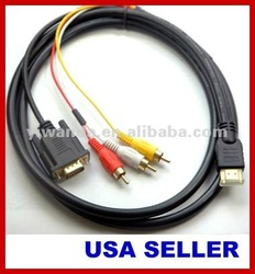 new fashion vga cable,female vga to rca