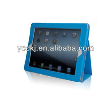 2014new arrival new style Synthetic Leather stand for ipad mini smart case with top quality free sample available