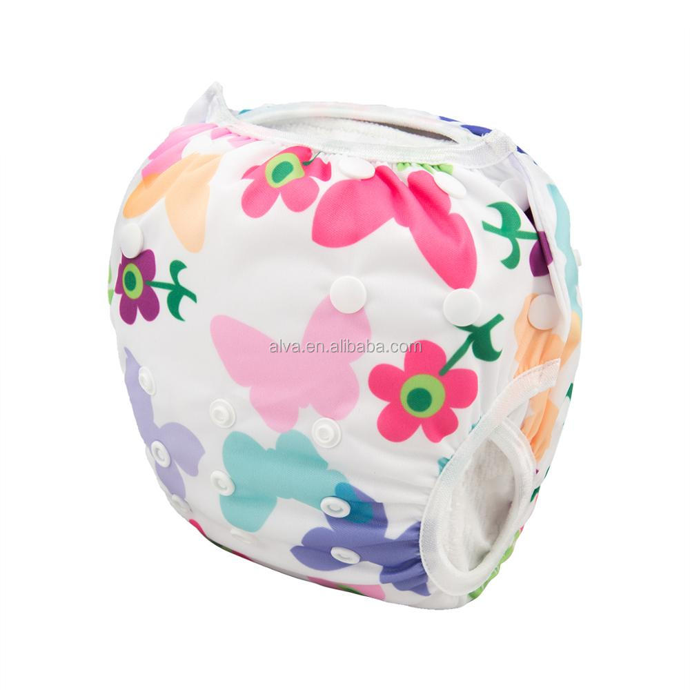 Alvababy Butterfly Pattern Wholesale Baby Swim Diaper Manufacturers in China