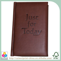 Custom leather note book with slipcase printing
