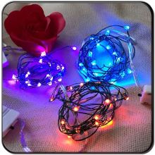 christmas decorations Silver wire Custom made outdoor battery operated string lights