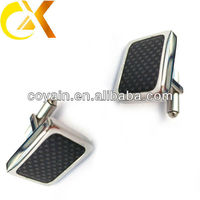 Asian fashion 316l stainless steel black plated cufflink findings