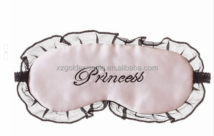 100% Silk Eye Mask With Lace