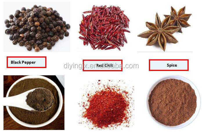 40Mesh Stainless Steel Grains Grinding Machine / Red Dry Chili Pepper Crusher Grinder