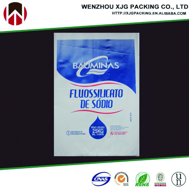 Printed PE plastic bag packing for fertilizer/chemical/carbon/construction