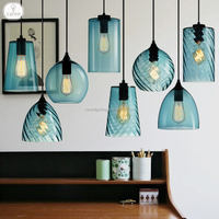 Caren European modern colour glass shade dining room pendant lamp