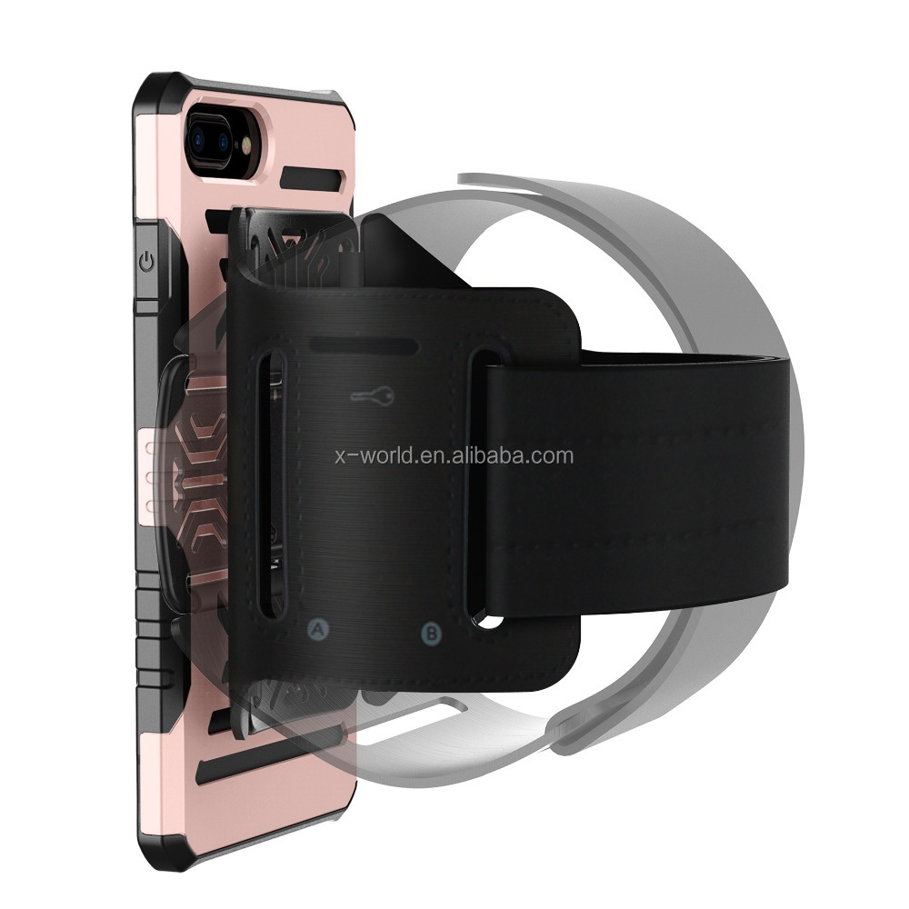 Car Mount Matching case Shockproof armor phone case cover with Rotation sports armband holder strap bracelet for iphone 7