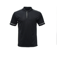 custom pique cotton fabric black color polo t shirt for men