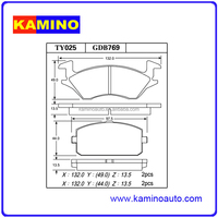 WHOLESALES CAR DISC BRAKE PADS FOR EUROPEAN CAR FOR TOYOTA GDB769 WEVER/KAMINO ASBESTOS FREE