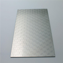 New style metal embossed finish stainless steel sheet/plate