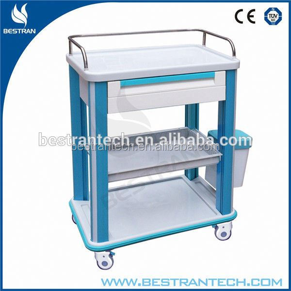 BT-CY002 medical medicine cart nursing care trolley with drawers