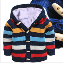 Walson 2015 new styles winter baby overcat knit Grow Bodysuit Suit warm winner overcoat