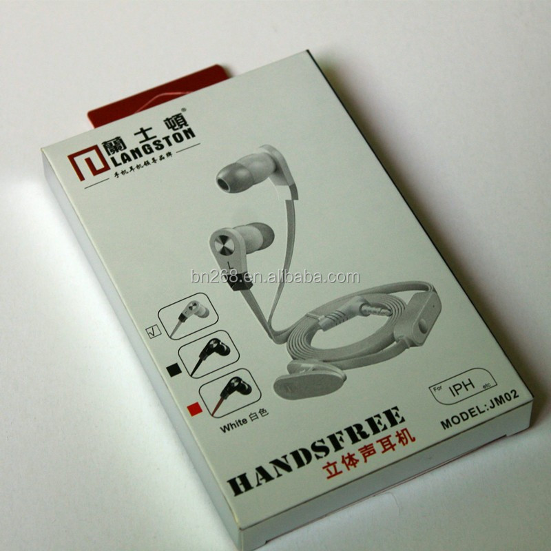 Wholesale Hanging earphone packaging printing paper box