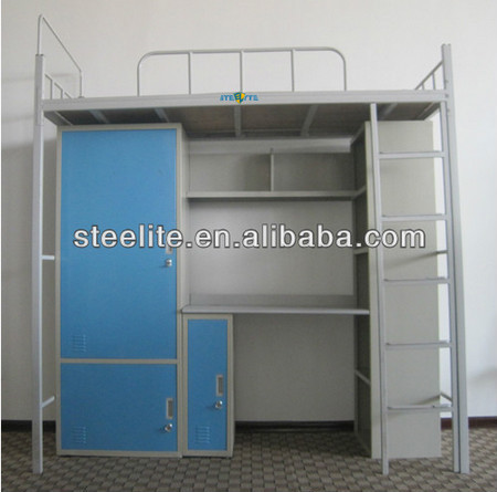 School furniture steel computer desk and wardrobe with factory price