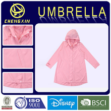 Pink cute raincoats for women with hood