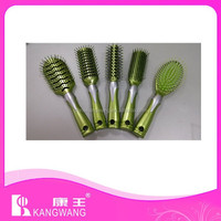 plastic hair brush set with silver decoration