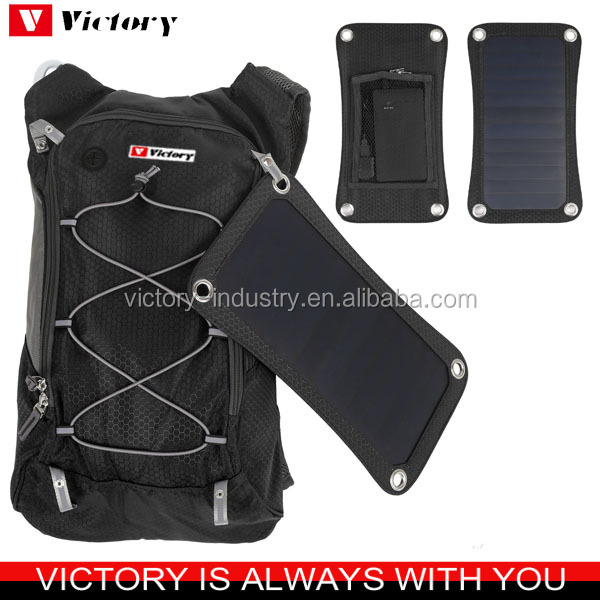 Solar backpack charger hydration pack with 2 L water bag