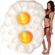2018 newest design inflatable fried eggs pool float swimming beach toy raft