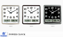 Plastic LCD clock,Home wall clock with Calendar,Battery clock