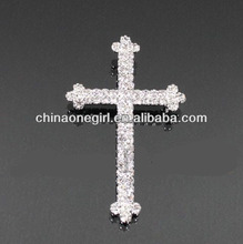 Cross Rhinestone Fashion Brooch