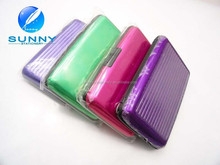 hot sale multi color cute business card holder aluminum busniess name card holder