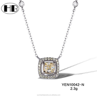 fashion stlye yellow sapphire pendant necklace designs for ladies custom made jewelry