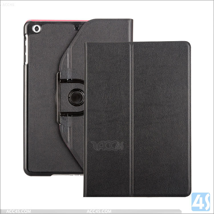 High Quality 360 degree Rotating pu leather case for Ipad air mini