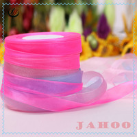 Hot Sell Cheap And Colourful Transparent Organza Ribbon
