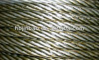 China galvanized steel wire rope 6x24+FC
