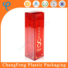 customized designed wholesale plastic wine bottle gift boxes