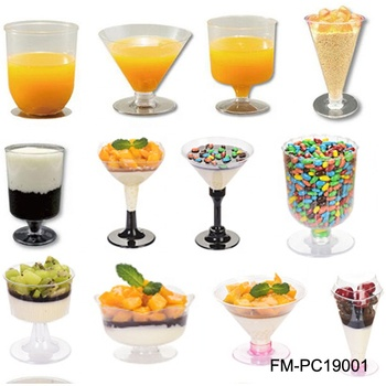 Disposable juice wine yogurt pudding cup eco PLA food drink container