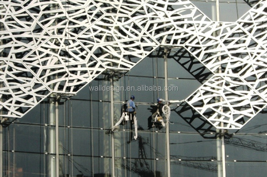 PVDF perforated metal panel used for facade curtain wall/sun screen