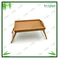 Bamboo wood food serving foldable table Tray