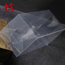 Hot sale folding pvc rectangular plastic transparent clear gift packaging box