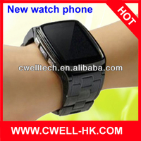 TW810 stainless steel hand watch mobile phone price