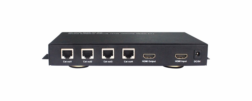 Long distance hdmi 1in 4 out splitter 1x4 via UTP HDMI Splitter Over Single Cat5e/6 cable up to 50m with hd Receiver