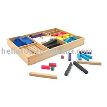 Colored Counting Bars Montessori toy of educational material